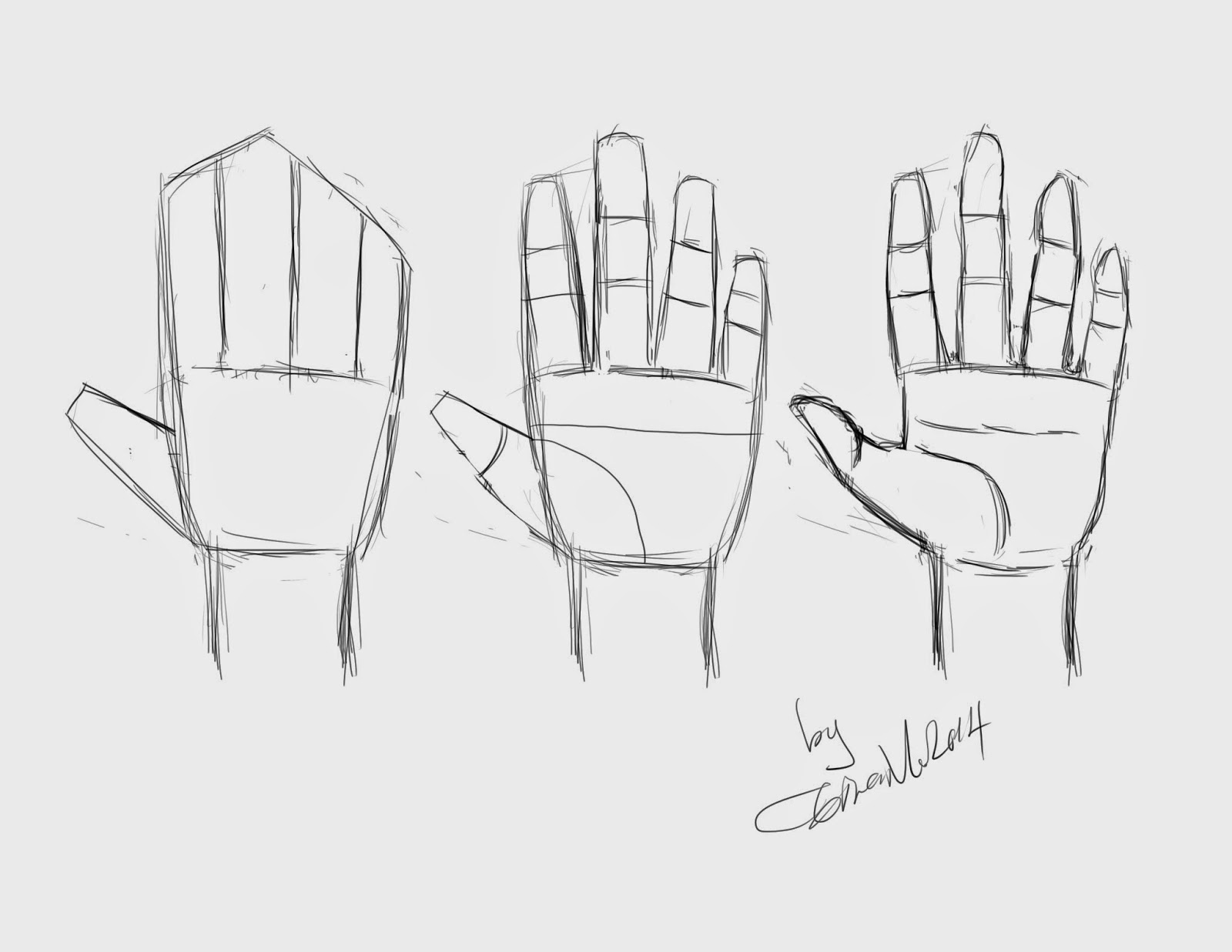 How To Draw A Hand Using Shapes