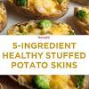 5-Ingredient Healthy Stuffed Potato Skins