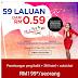 Air Asia Menawarkan Tambang Murah Dengan Hanya RM0.59 Untuk 59 Laluan