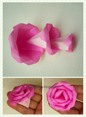 diy how to make origami rose