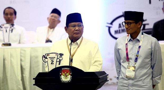 Dana Awal Kampanye Prabowo Tak Termasuk 'Galang Perjuangan'