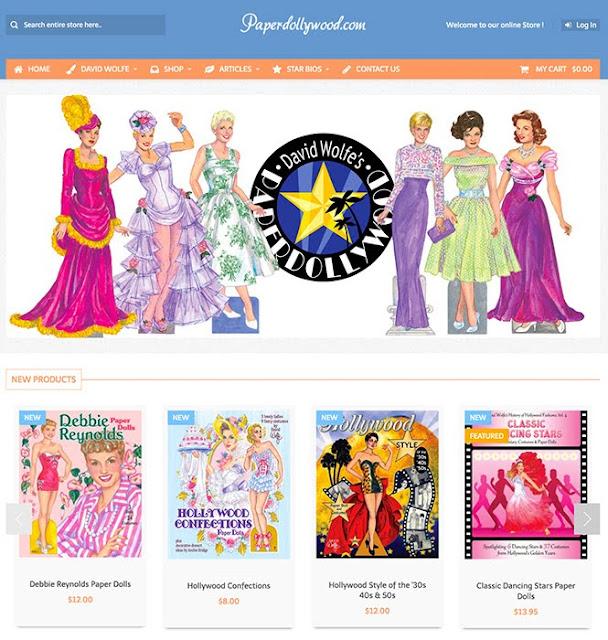 Classic movie star paper dolls, fashion history, nostalgia