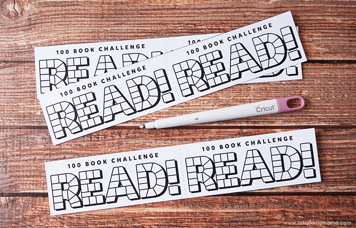 Encourage kids to read 100 books this summer with Free Printable Reading Challenge Bookmarks!