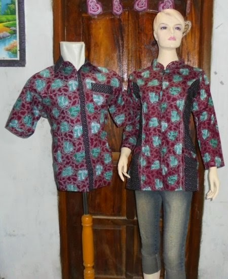 model baju batik couple modern