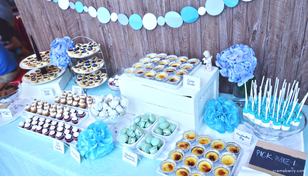 Blue Baby Shower Dessert Table Creme Berry S Blog