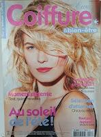 Page de couverture d'un magazine de coiffure