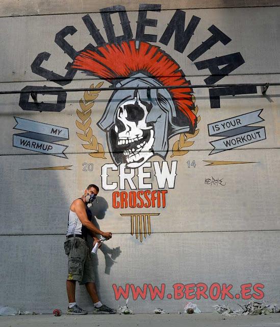 Rotulación de mural Crossfit