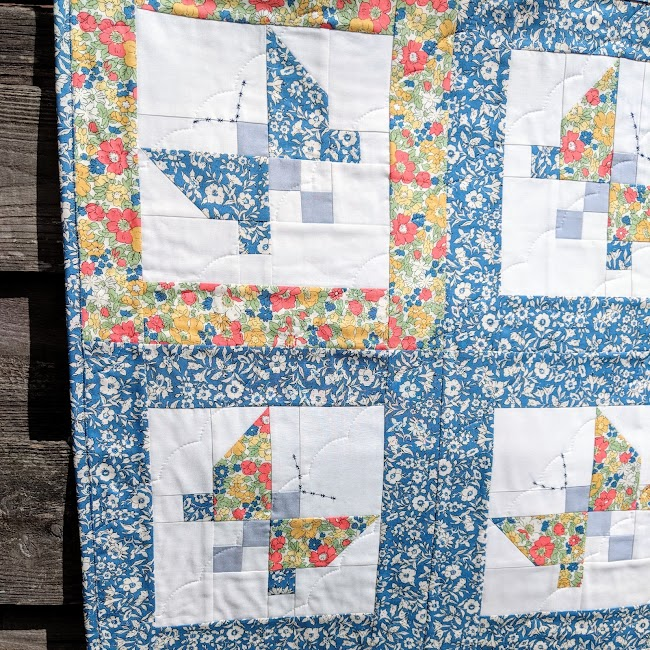 Liberty butterfly quilt