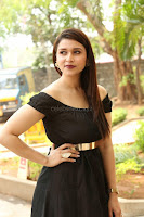 Mannara Chopra in Short Off Shoulder Black Dress ~  Exclusive 024.JPG