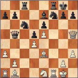Partida de ajedrez Asencio vs. Camats, posición después de 20.Dh5