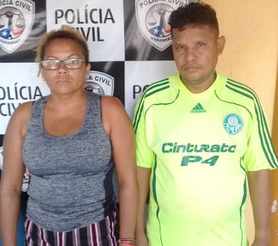 Preso casal suspeito de envolvimento na morte e esquartejamento de criança em Itapecuru Mirim