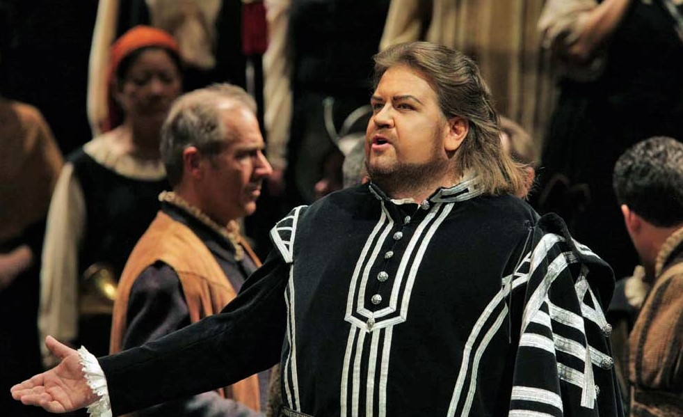 IN MEMORIAM: South African tenor JOHAN BOTHA (1965 - 2016), photographed in the title rôle of Giuseppe Verdi's DON CARLO at The Metropolitan Opera in 2006 [Photo by Ken Howard, © by The Metropolitan Opera]