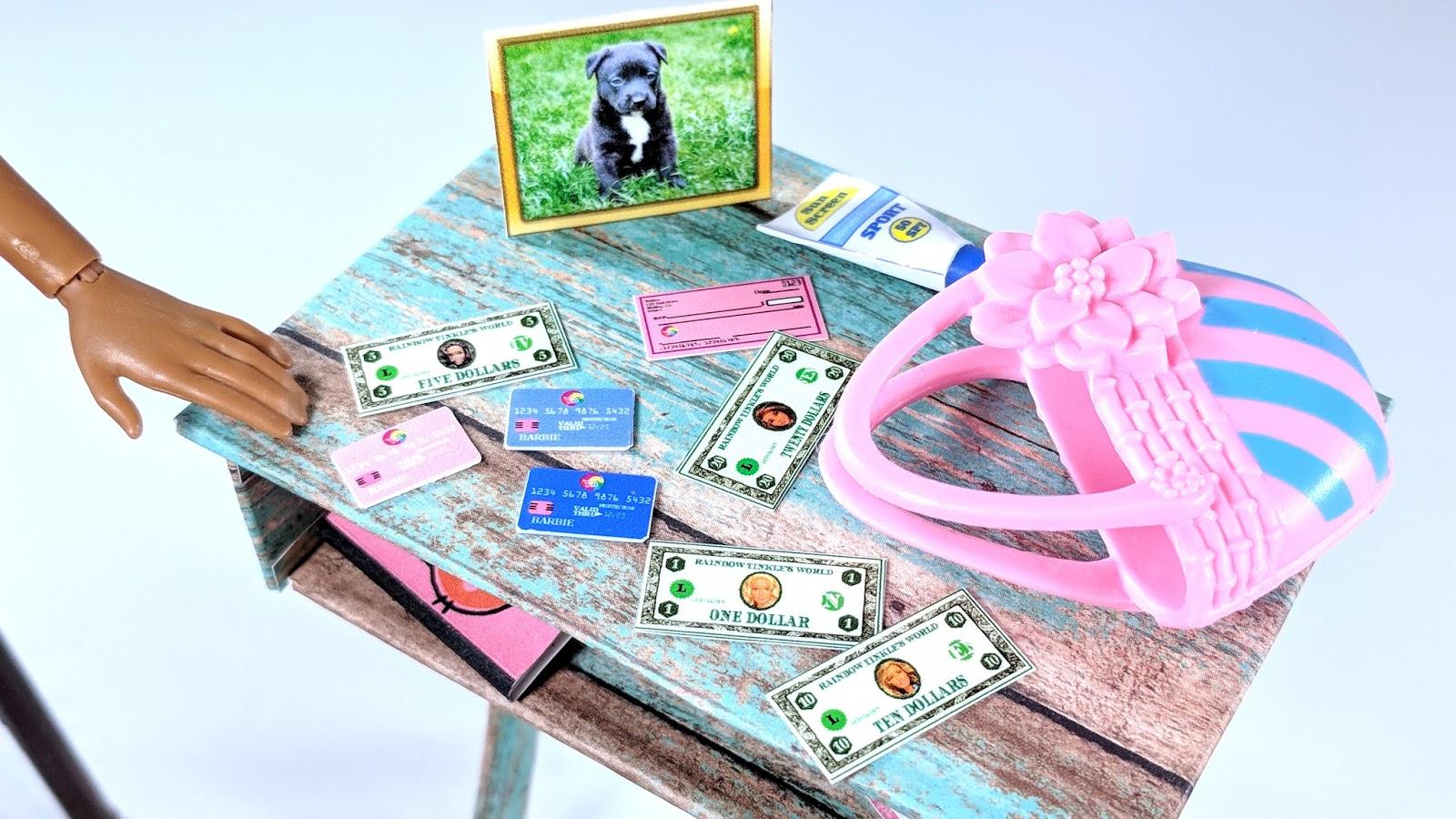 Rainbow Tinkle S World Get That Money Diy Miniature Barbie Doll Printable Cash Checks