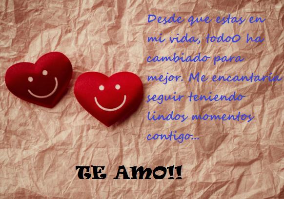 Imagenes de corazones rojos con frases de amor