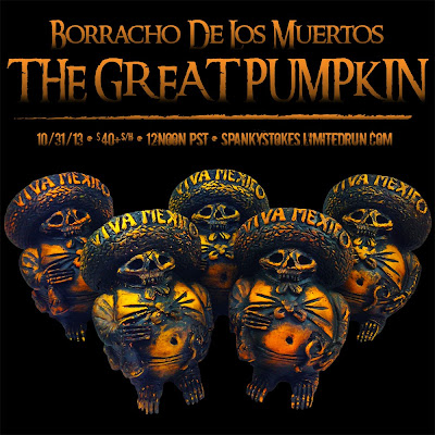 """The Great Pumpkin"" Borracho De Los Muertos Resin Figure by Spanky Stokes"