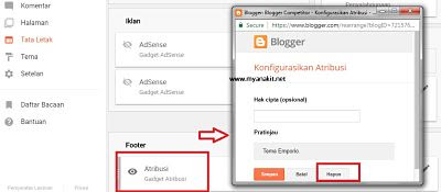 cara hapus atribusi powered by blogger