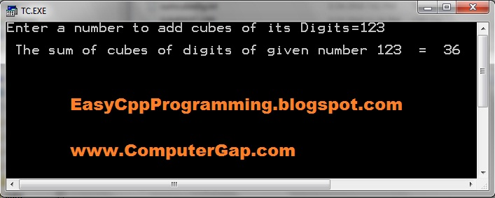 Calculate-cubes-of-digits-of-user-given number