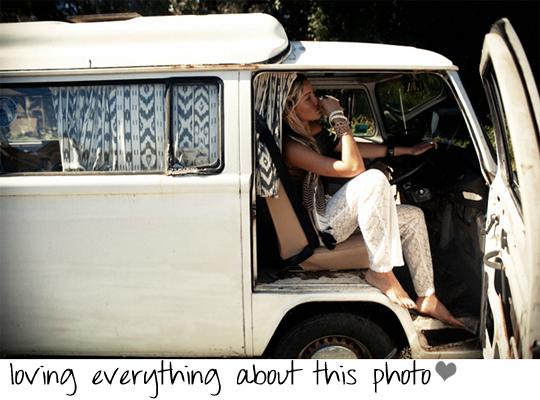white VW bus