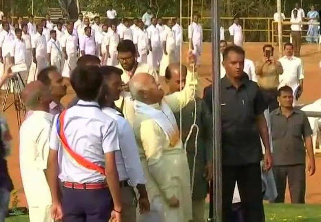 Nation celebrates 69th Republic Day, RSS Chief hoists flag at Palakkad