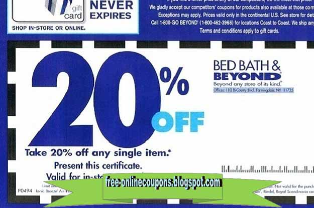 Bed bath beyond online coupon code 2018
