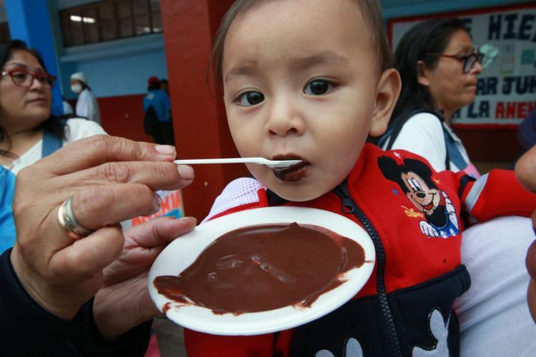 Distrito de Comas decreta lucha frontal contra la anemia y la desnutrición infantil