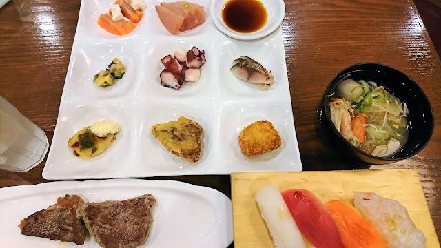 北海道 函館 湯元啄木亭 夕食バイキング