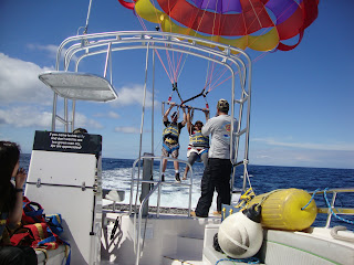 safe landing after parasailing
