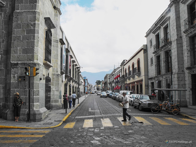 A street in city center of Oaxaca