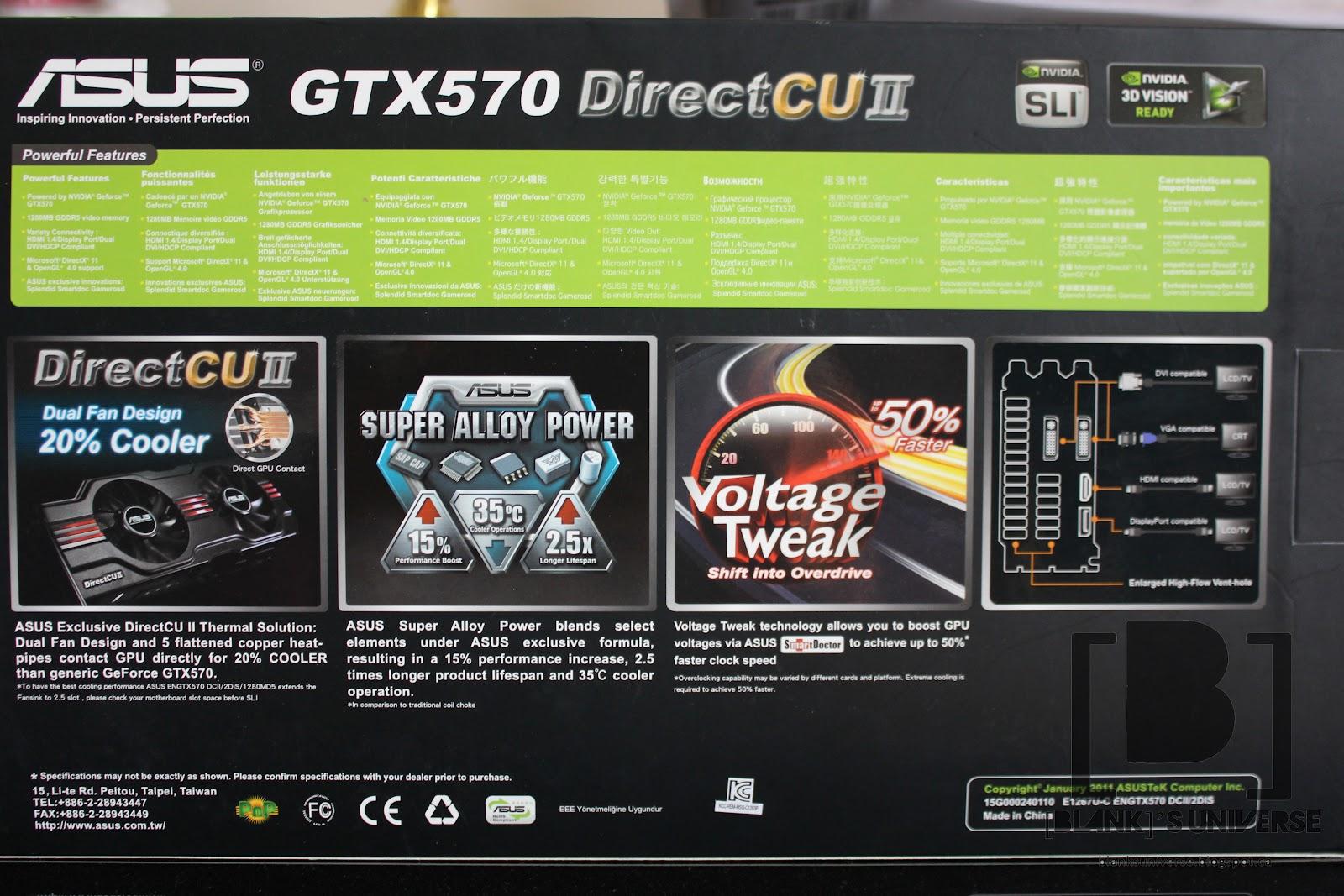 asus gtx 570 directcu ii drivers