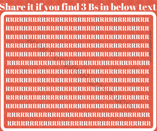 Can you find 3Bs in Rs picture puzzle?