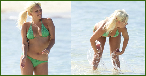 Lady Gaga in a Bikini Without Makeup - Unretouched Photos