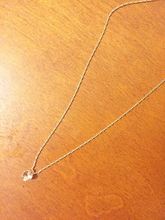 H&M rose gold jewel necklace