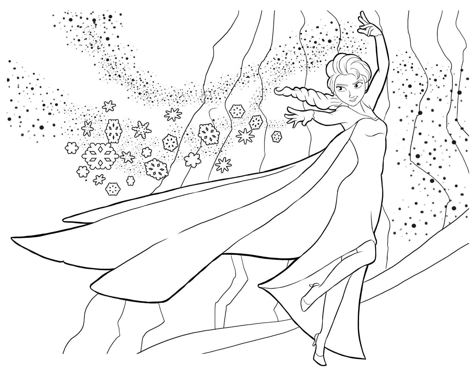 Tranh tô màu Elsa 8