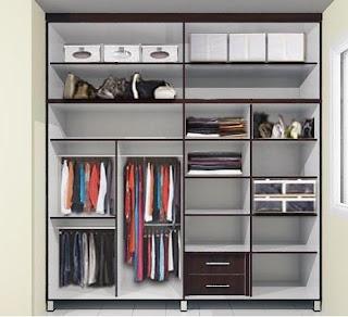 contoh desain lemari pakaian minimalis