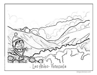 Colorear Andes Venezuela