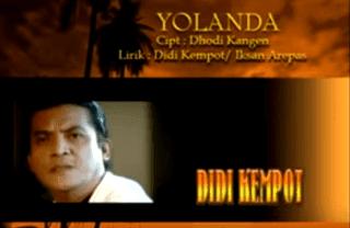 Lirik Lagu Yolanda - Didi Kempot
