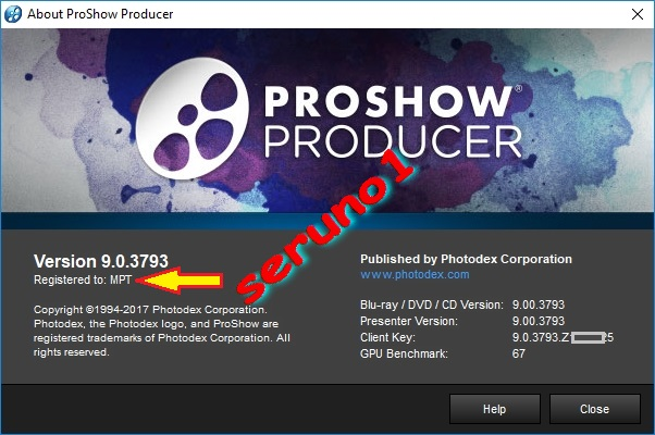 proshow producer 9 registration key only