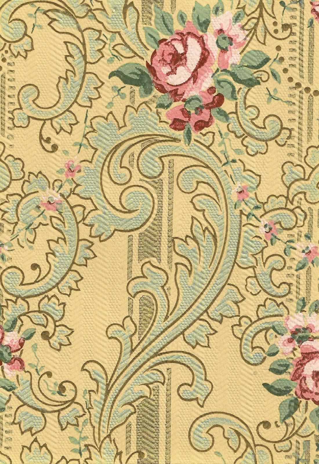 background victorian wedding rose vintage floral pattern digital clipart