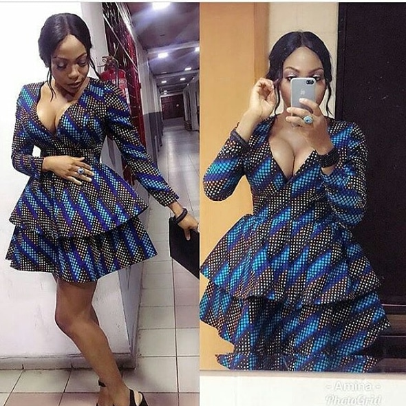 71430967a6 Ankara Short Flare Gown 20 photos of latest and trending ankara short flare  gowns for any