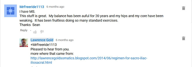 screen shot of testimonal comment from YouTube video