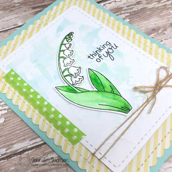 Lily of the Valley Card by Jennifer Jackson | Little Lilies Stamp Set by Newton's Nook Designs