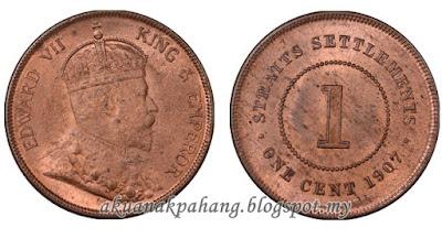 1 CENT STRAITS SETTLEMENTS KING EDWARD VII 1903 -1908