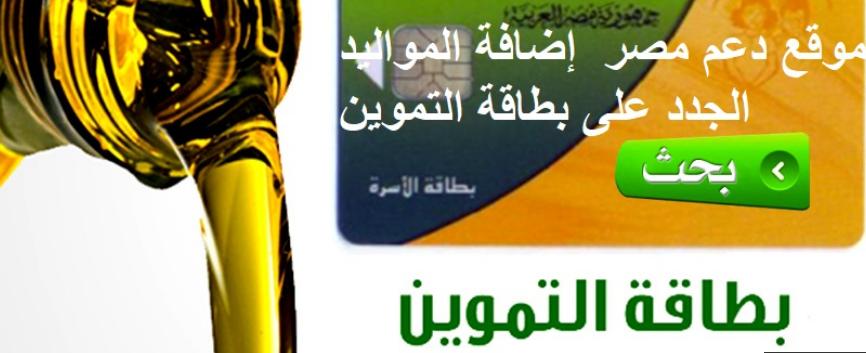 موقع إضافة المواليد الجدد على بطاقة التموين طريقة إضافة