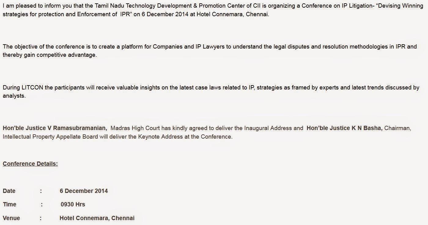 Agenda: CII-LITCON