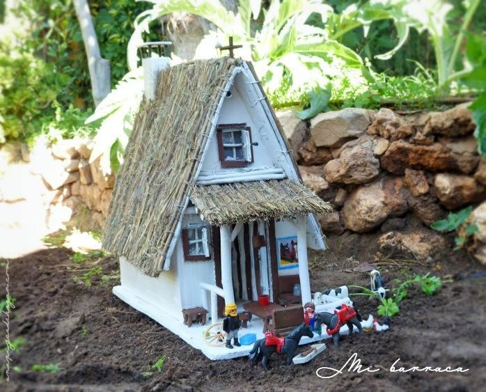construyendo una barraca valenciana con niños
