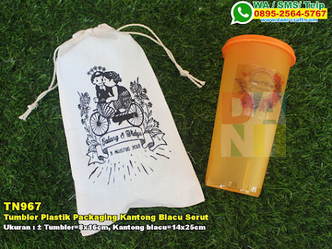 Tumbler Plastik Packaging Kantong Blacu Serut