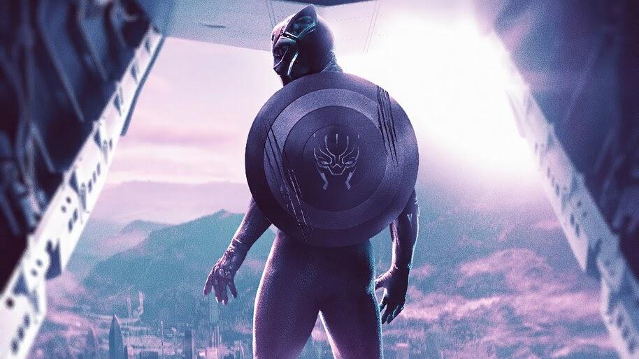 Black Panther, Shield, Marvel, Superhero, 4K, #6.1316
