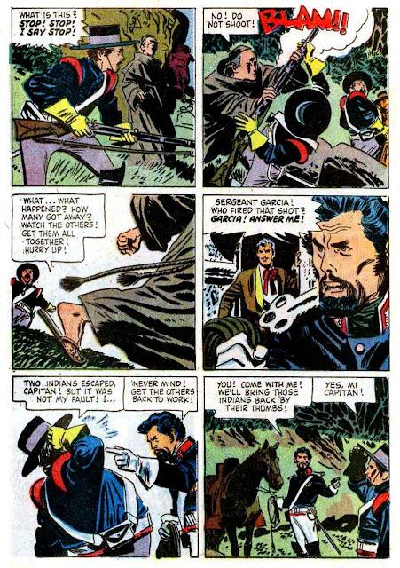 Zorro Four Color #920 1950s dell comic book page art by Alex Toth