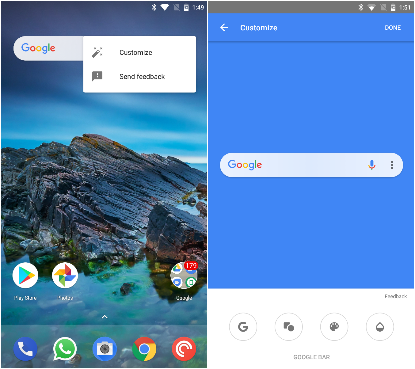 APK] Google App Beta 7 14 15 Adds Customizable Google Search Bar