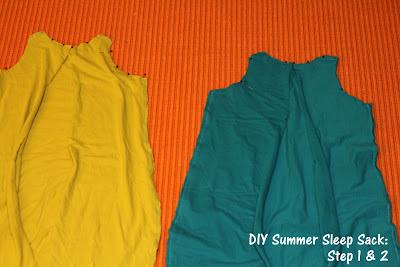 DIY Summer Sleep Sack for Baby Tutorial Steps 1 & 2